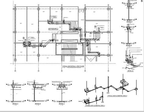 hotel drainage layout revit mep on behance