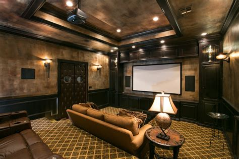 Theatre Rooms by Theatre Room Mediterranean Home Theater Other Metro
