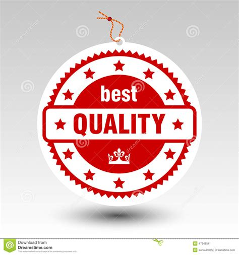 Best Quality by Vector Paper Best Quality St Price Tag Label Stock