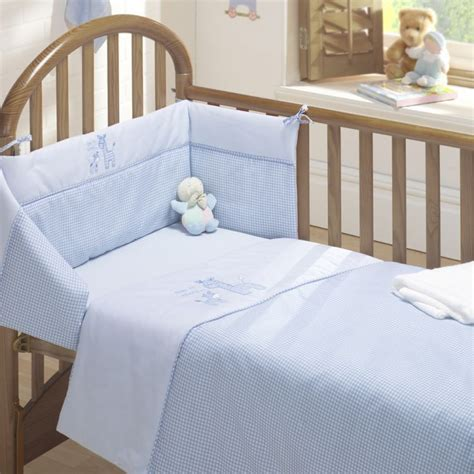 Cot Bed Bumper Sets Uk Time To Sleep Cot Quilt And Bumper Set Blue Tonys Textiles