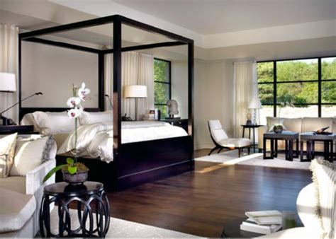 Black Canopy Bedroom Ideas Lacquered Canopy Bed Transitional Bedroom Tom Stringer