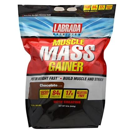 creatine j pouch mass gainer 12 lb bag by labrada tfsupplements