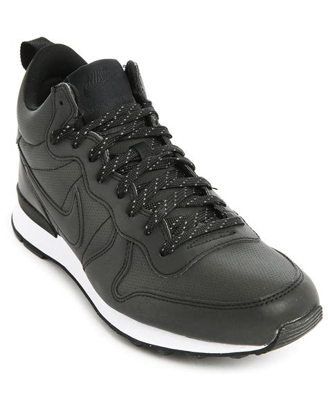 nike internationalist sneaker nike black leather mid top internationalist sneakers in