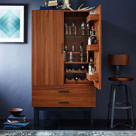 reede bar cabinet tall west elm furnishings home