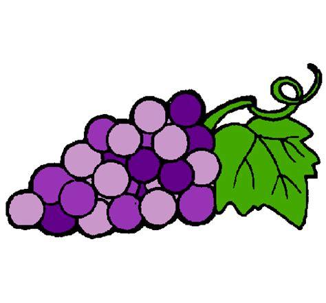 Imagenes De Uvas En Dibujo | dibujo de racimo pintado por uva en dibujos net el d 237 a 03