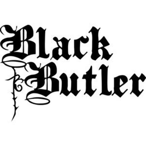 logo anim doodle black butler symbol black and white silhouette