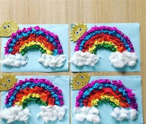 crepe paper craft crepe paper rainbow craft 1 171 preschool and homeschool