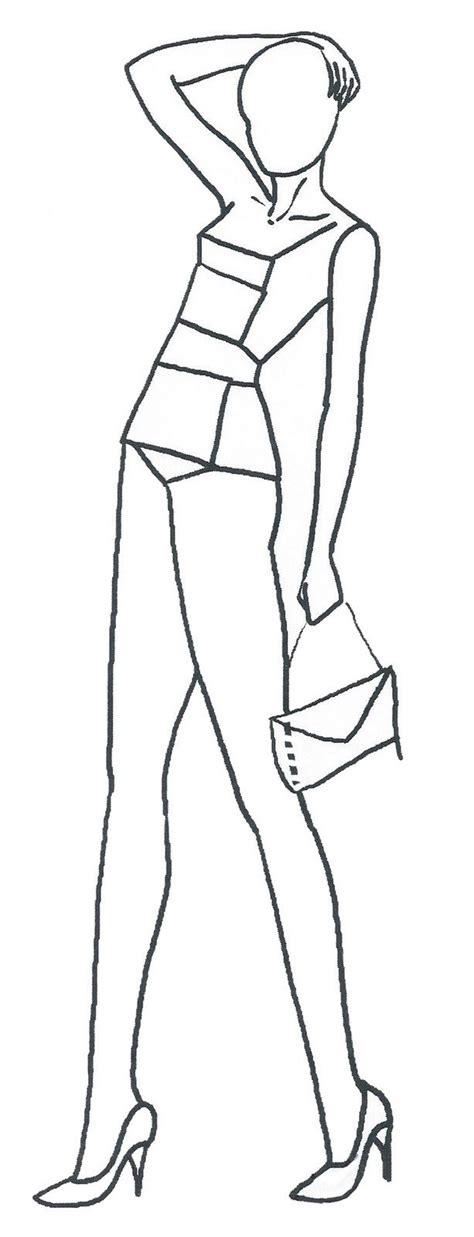 fashion design silhouette templates 22 best fashion figures images on fashion