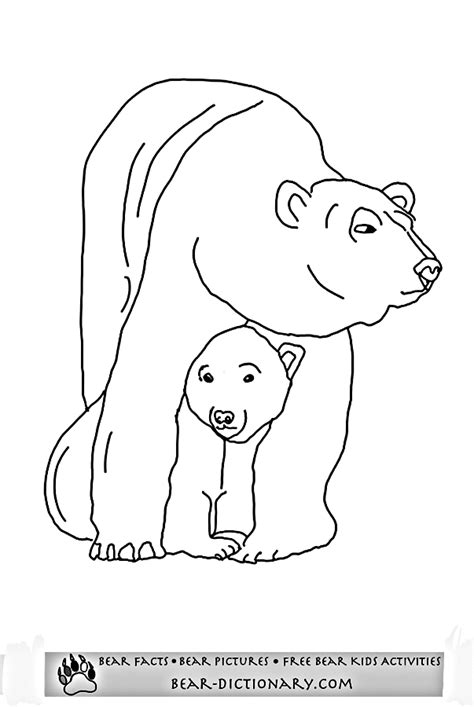 printable pictures polar bears coloring pages of polar bears images