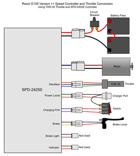 wiring diagram e300s razor scooter razor scooter battery