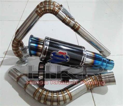 Termignoni Blue Leher Semi Cacing harga knalpot racing termignoni gp kawasaki 250 fi hkr