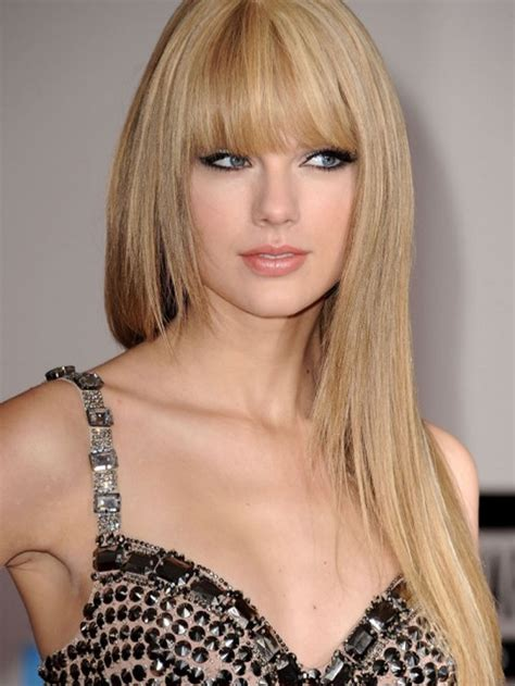 pictures of taylor swift with straight hair and bangs and bob taylor swift straight hair side bangs