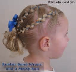 elastic hair band hairstyles rubber band wraps messy bun video babes in hairland