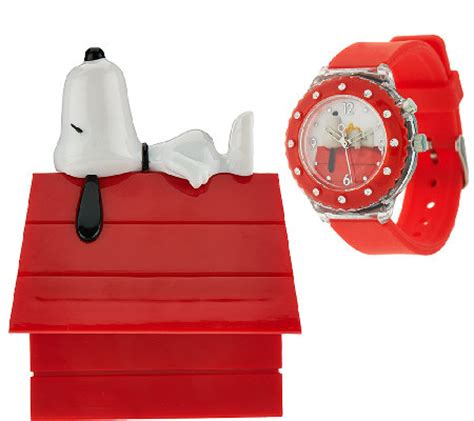 Peanuts Snoopy Light Up Watch In Collectible Dog House Box Snoopy Lights