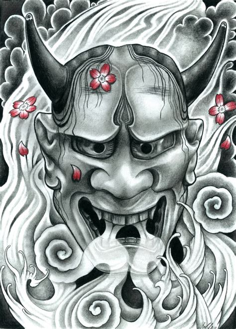 tattoo japanese hannya mask hannya pencil tattoo ideas pinterest tattoo oni