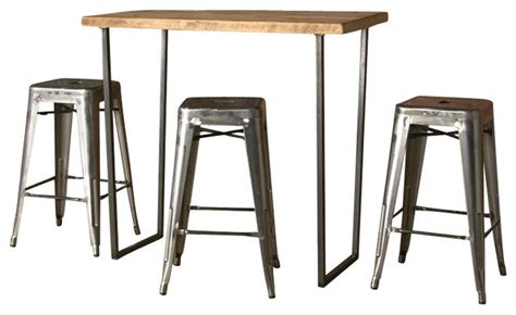 Bar Height Bistro Table Bar Height Table 48 Quot X30 Quot Contemporary Indoor Pub And Bistro Tables By