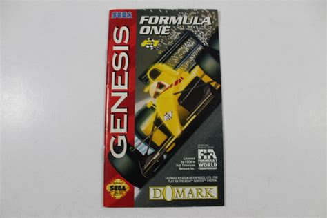 sega genesis manuals manual formula one f1 sega genesis
