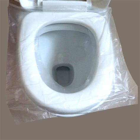 bathroom seat cover disposable plastic pocket toilet seat cover for airline