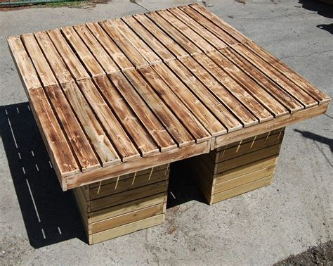 Patio Table From Pallets by Diy Outdoor Pallet Patio Table Pallet Furniture
