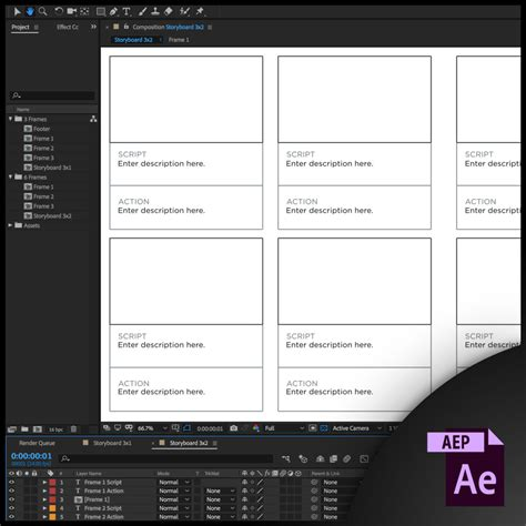 aep templates free free storyboard templates for after effects aep