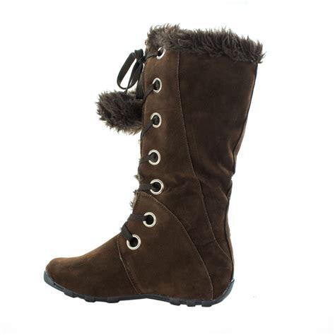 mary pom pom fur winter boots sophisticates closet