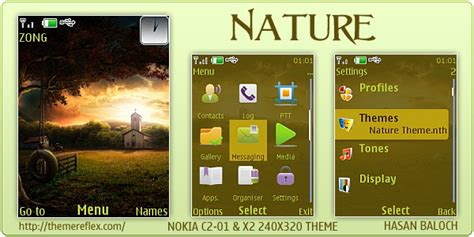 nokia c2 nature themes nature theme for nokia x2 c2 01 240 215 320 themereflex