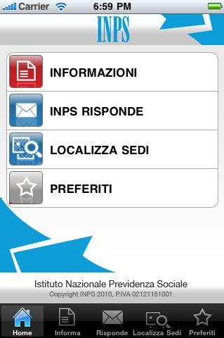 inps ufficio pensioni inail e inps le app per iphone e al forum della