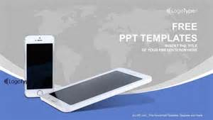 Cell Powerpoint Template by Mobile Phones With Lines Powerpoint Templates