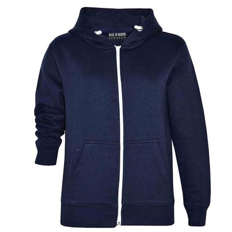 Zipper Hoodie boys unisex plain fleece hoodie zip up style
