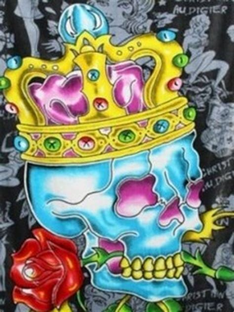 download ed hardy tattoos wallpapers to your cell free ed hardy king skull phone wallpaper by rex 66