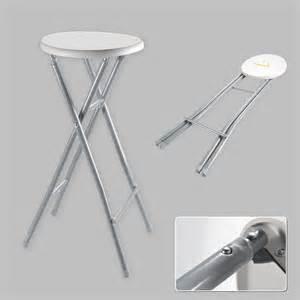 bar stool xl folding chair high foldable metal white grey