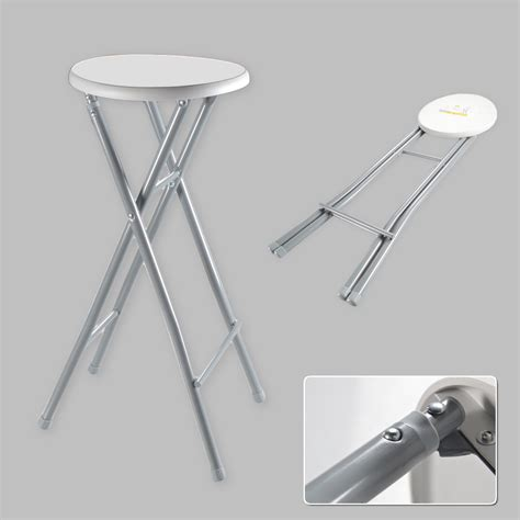 Folding High Stool Chair by Bar Stool Xl Folding Chair High Foldable Metal White Grey