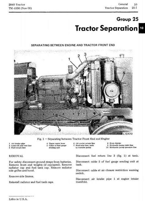 TM4336 - John Deere 2840 Utility Tractor Technical Service