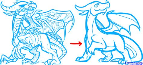 how to make doodle on how to draw a step by step dragons draw a