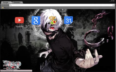 google theme kaneki kaneki white hair chrome theme themebeta
