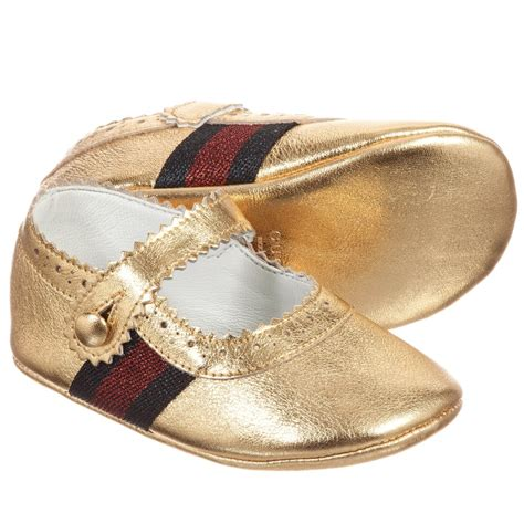gucci baby shoes gucci baby gold leather lila shoes childrensalon
