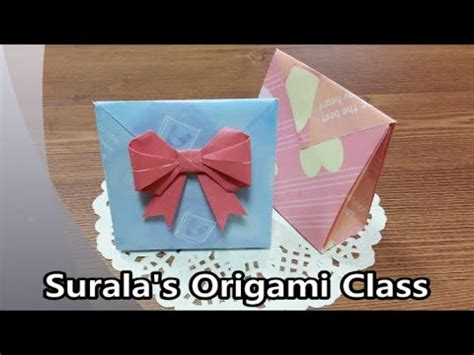 Origami Bags With Paper - origami gift box with one sheet of paper funnycat tv