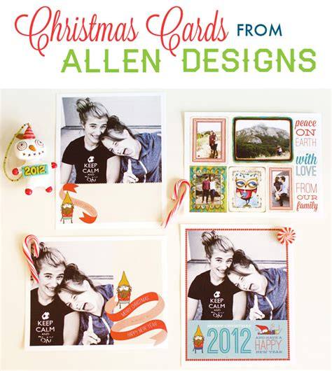 free photo card templates 2012 tutorials diy allen designs studio