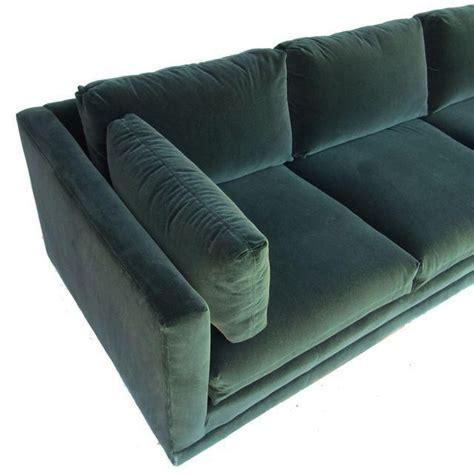 Green Sofas For Sale by Henredon Green Velvet Tuxedo Sofa Chairish Couches
