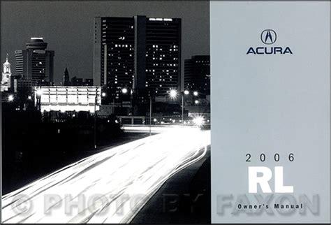 car repair manual download 2001 acura rl user handbook 2006 acura rl owner s manual original