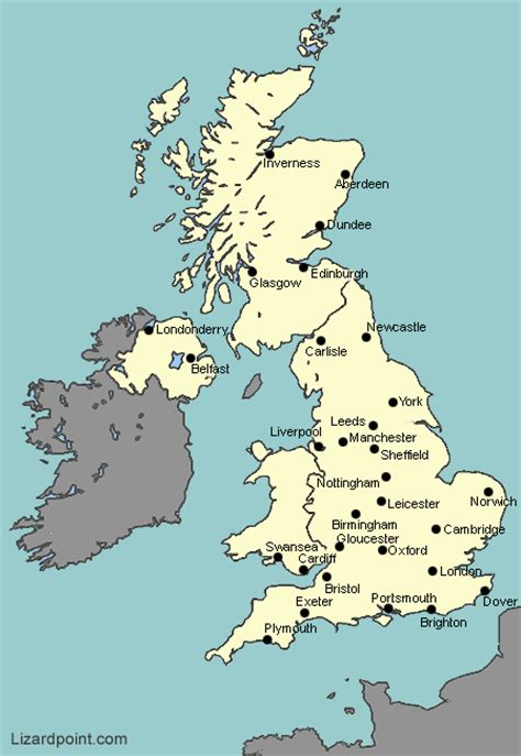 map uk with cities test your geography knowledge uk major cities lizard
