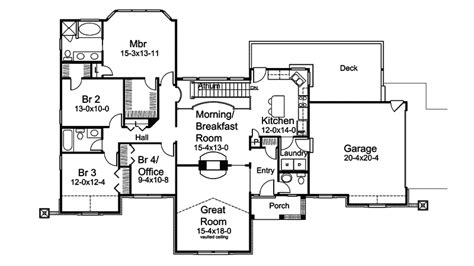 atrium ranch floor plans atrium house plans