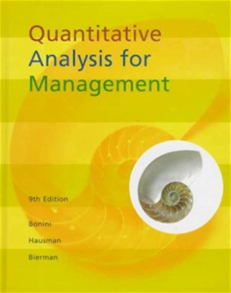 Quantitative Analysis Book For Mba quantitative analysis for management stanford graduate