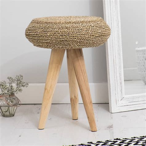 bedroom stool round wood and wicker bedroom stool by za za homes