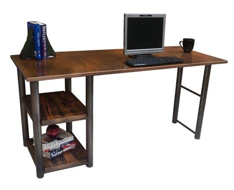 wrought iron computer desk rustic pine and wrought iron computer desk with