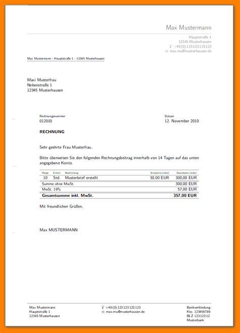 Rechnung Schreiben Muster Kleinunternehmen 7 rechnung schreiben privat vorlage sponsorshipletterr