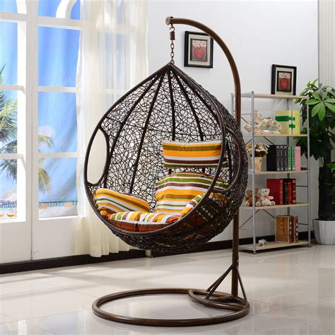 Cushions For Outdoor Patio Furniture Outdoor Wicker Swing Chair Fun And Comfortable Furniture