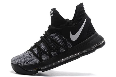 nike basketball shoes sale cheap nike kd 10 black grey white basketball shoes for