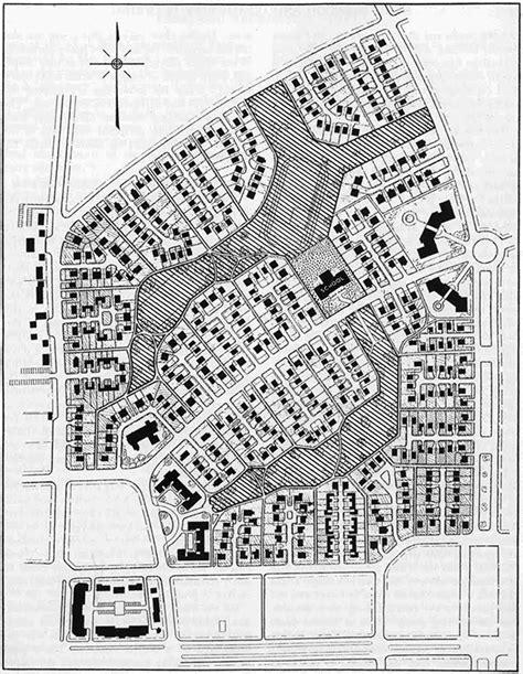 plano layout wikipedia supermanzana de radburn arquiscopio archivo