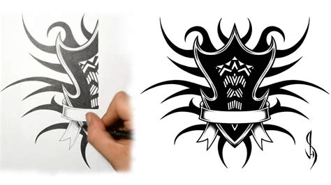 family tribal tattoo designs how i draw a tribal family shield design